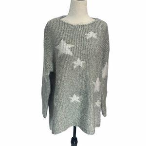 Twik Chunky Knit Oversized Sweater Stars XS